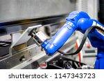 hand robot working automatic...   Shutterstock . vector #1147343723