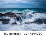 oregon's thor's well | Shutterstock . vector #1147344110