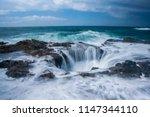 oregon's thor's well | Shutterstock . vector #1147344110