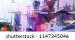 modern painting wall art decor. ... | Shutterstock . vector #1147345046