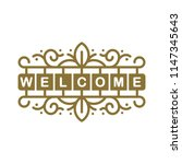 welcome sign icon symbol vector ... | Shutterstock .eps vector #1147345643