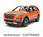 Warm Orange Modern Suv Car   3...