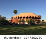 Beautiful architecture at Arizona State University designed by Frank Lloyd Wright.