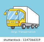 delivery van truck | Shutterstock .eps vector #1147366319