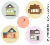 choosing house  comparing... | Shutterstock .eps vector #1147366493