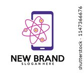 phone with biology laps logo... | Shutterstock .eps vector #1147366676