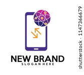 phone with biology laps logo... | Shutterstock .eps vector #1147366679