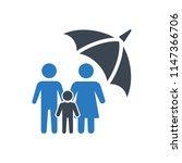life insurance icon... | Shutterstock .eps vector #1147366706