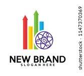 biology stats logo vector ... | Shutterstock .eps vector #1147370369