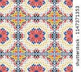 talavera pattern.  azulejos... | Shutterstock .eps vector #1147371353