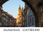 prague view of mala strana ... | Shutterstock . vector #1147381340
