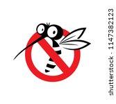 mosquito sign vector logo icon... | Shutterstock .eps vector #1147382123