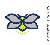 Stock vector fireflies logo icon vector illustration 1147384970