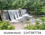 The dam above DeSoto Falls in DeSoto State Park, AL