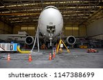 front view of aircraft ... | Shutterstock . vector #1147388699