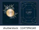wedding invitation  floral...   Shutterstock .eps vector #1147396160