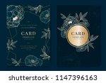 wedding invitation  floral...   Shutterstock .eps vector #1147396163