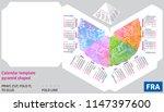 template french calendar 2019... | Shutterstock .eps vector #1147397600