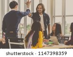 asian and multiethnic business... | Shutterstock . vector #1147398359