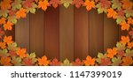 colorful autumn leaves on... | Shutterstock .eps vector #1147399019