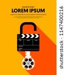 movie and film modern retro...   Shutterstock .eps vector #1147400216