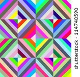 cubism and pop art seamless...   Shutterstock .eps vector #114740590