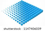 big cube scructure dissolving... | Shutterstock .eps vector #1147406039