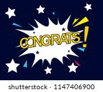 congrats  beautiful greeting... | Shutterstock .eps vector #1147406900