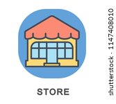 icon store. place for retail... | Shutterstock .eps vector #1147408010