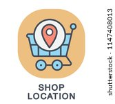 icon shop location. shopping... | Shutterstock .eps vector #1147408013