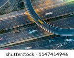 rush hour traffic on a city... | Shutterstock . vector #1147414946