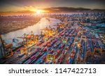 logistics and transportation of ... | Shutterstock . vector #1147422713