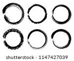 grunge vector circles. brush... | Shutterstock .eps vector #1147427039