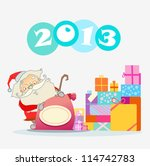 santa with gifts | Shutterstock .eps vector #114742783