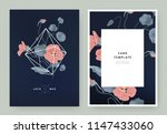 floral wedding invitation card... | Shutterstock .eps vector #1147433060
