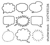 collection of speech bubbles | Shutterstock .eps vector #1147435136