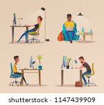 funny business character in the ... | Shutterstock .eps vector #1147439909