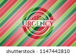 urgency christmas colors style... | Shutterstock .eps vector #1147442810