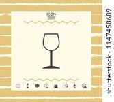 wineglass symbol icon | Shutterstock .eps vector #1147458689
