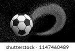 soccer ball with spiral water... | Shutterstock . vector #1147460489