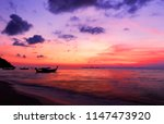 beautiful blazing sunset... | Shutterstock . vector #1147473920