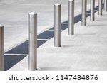 Diagonal Row Of Chrome Metal...