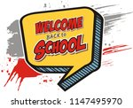 text back to school. in the... | Shutterstock .eps vector #1147495970