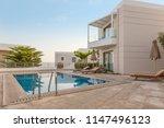 hotel swimming pool  outdoor ...   Shutterstock . vector #1147496123