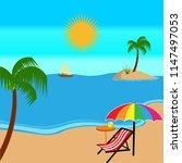 summer in the beach vector | Shutterstock .eps vector #1147497053