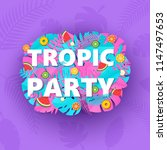 words tropic party composition... | Shutterstock .eps vector #1147497653