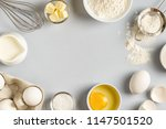 background with ingredients for ... | Shutterstock . vector #1147501520