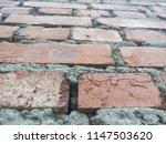 an old brick wall. ancient... | Shutterstock . vector #1147503620