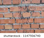 old wall made of red brick.... | Shutterstock . vector #1147506740