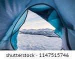 relaxing inside tent camping...   Shutterstock . vector #1147515746